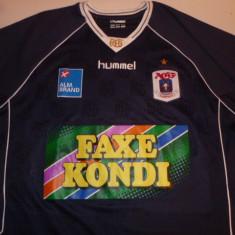 Tricou HUMMEL fotbal - AGF AARHUS (Danemarca) - Tricou echipa fotbal, Marime: XL, Culoare: Din imagine, De club, Maneca scurta