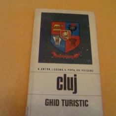 Cluj - ghid turistic al judetului - 1973  - cu harta