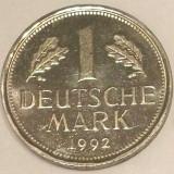 G5. GERMANIA 1 MARK MARCA 1992 F 5.5 g, Cu-Ni 23.5 mm PROOF LIKE aUNC / UNC **, Europa