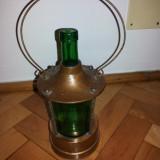 Sticla veche cu mecanism muzical - Arta din Sticla