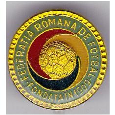 Insigna fotbal - Federatia de Fotbal din ROMANIA (FRF)