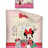 Lenjerie de pat, Minnie Mouse, 140X200cm, Alte dimensiuni, Multicolor, 2 Piese, Disney