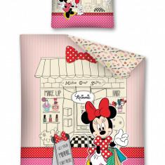 Lenjerie de pat, Minnie Mouse, 140X200cm - Lenjerie pat copii Disney, Alte dimensiuni, Multicolor, 2 Piese