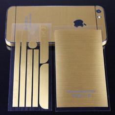 Iphone 5/5s - Stiker/Folie Gold Pret 18.90 Lei - Sticker Telefon, Auriu