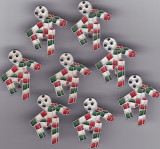 """Insigna fotbal - Mascota """"CIAO"""" Campionatul Mondial din ITALIA 1990"""