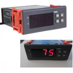 Controller digital pentru umiditate la 12V cu senzor inclus si releu la 220V 10A