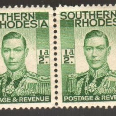 Anglia / Colonii, 1937, SOUTHERN RHODESIA, nestampilate, MNH