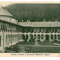 280 - Neamt, Manastirea AGAPIA, Staretia, Paraclisul - old postcard - used - 1932