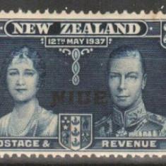 Anglia / Colonii, 1937, NIUE, nestampilate, MNH+MH
