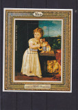 Pictura ,fetita cu catelul ,Tizian., Nestampilat
