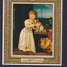 Pictura, fetita cu catelul, Tizian. - Timbre straine, Nestampilat