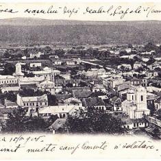 Ramnicu Valcea, Vedere generala, clasica, 1905 - Carte Postala Muntenia 1904-1918, Circulata