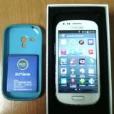 Samsung Galaxy S3-Mini - GT I8190 + card 16 GB - Telefon mobil Samsung Galaxy S3 Mini, Alb, Neblocat