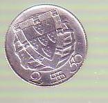 Moneda  2,5 escudos 1943 Portugalia argint