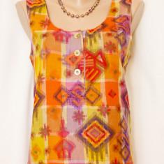 Bluza/Top pentru vara in culori vesele-REDUCERE! - Bluza dama, Marime: S/M, Culoare: Multicolor, Maneca scurta, Bumbac