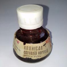 Sticluta cerneala rosie - HRONICAR pentru stilou, anii '70, R.S. R.