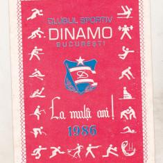 Bnk dv calendar Dinamo Bucuresti 1986