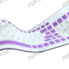 Tastatura flexibila, 104 taste, interfata USB - 114500, Cu fir