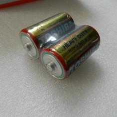 Baterie R20 R20KG Toshiba Size D 1.5V - Set 2 bucati blister - Baterie Aparat foto, Dedicat