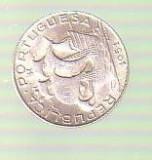 Moneda  2,5 escudos 1951 Portugalia argint