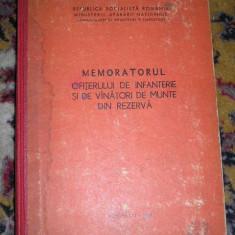 RWX 43 - MEMORATORUL OFITERULUI DE INF SI DE VANATORI DE MUNTE DIN RZ - ED 1978