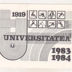 Bnk dv calendar Universitatea Cluj 1983-1984
