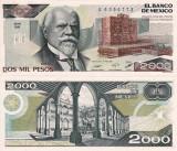 MEXIC 2.000 pesos 24 februarie 1987 UNC!!!