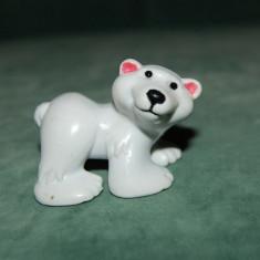 Figurina, jucarie, urs polar simpatic, cauciuc, 5x4 cm, colectie, decor - Figurina Animale