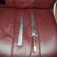 BAIONETA VECHE DIN 1888 cu teaca (Mannlicher 1888 bayonet)
