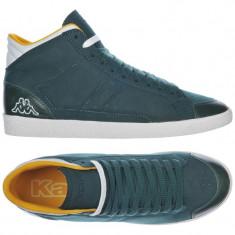40_Adidasi originali inalti Kappa_din piele_verde_in cutie - Adidasi barbati Kappa, Piele naturala