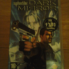 JOC PSP SYPHON FILTER DARK MIRROR ORIGINAL / STOC REAL / by DARK WADDER - Jocuri PSP Sony, Shooting, 16+, Single player