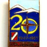 INSIGNA CUPA ZARANDULUI 1947 - 1967