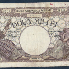 ROMANIA 2000 2.000 LEI 1 septembrie 1943 [5] filigram BNR in scut - Bancnota romaneasca