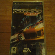 JOC PSP NEED FOR SPEED UNDERGROUND RIVALS ORIGINAL / STOC REAL / by DARK WADDER - Jocuri PSP Electronic Arts, Curse auto-moto, 12+, Single player