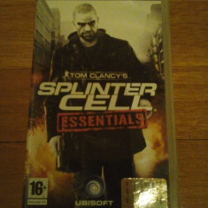 JOC PSP TOM CLANCY's SPLINTER CELL ESSENTIALS ORIGINAL / STOC REAL / by DARK WADDER - Jocuri PSP Ubisoft, Shooting, 16+, Single player
