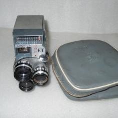Vand aparat de filmat CRONICA 8 ET cu 3 obiective - Aparat Filmat
