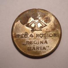 Medalie Regimentul 4 Rosiori Regina Maria - Recunostinta Eroilor 1916 1919 - Medalii Romania