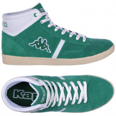 Adidasi originali -adidasi inalti KAPPA-adidasi barbati-cutie-41 1/3, 42, 44, Culoare: Verde, Piele naturala