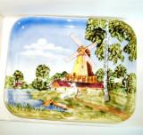 Cumpara ieftin Aplica (center piece) portelan, pictata manual anii 40 - SMF Schramberg Germany, Farfurii