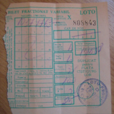 Bilet loterie - anii 80 - Bilet Loterie Numismatica