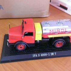 Macheta metal camion 1/43 - IFA S 4000-1 SW7 Cisterna - Camioane celebre Atlas - Macheta auto