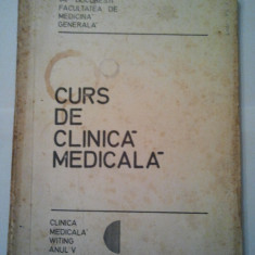 CURS DE CLINICA MEDICALA 2 volume - Anul IV - V. POMPILIAN 1976 ( 1105 + 1108 ) - Curs Medicina
