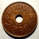 1.768 DANEMARCA 2 ORE 1938 EROARE 8 plin, Europa, Bronz