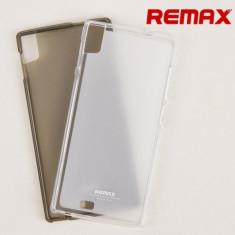Husa ALLVIEW X2 SOUL TPU Transparenta Grey + Folie Protectie by Remax - Husa Telefon Allview, Gri, Gel TPU, Fara snur, Carcasa