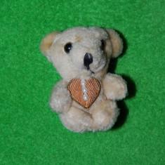 Brosa jucarie ursulet, plus, 8cm, accesoriu dame, copii