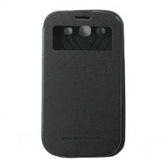 Toc My-Wow Samsung Galaxy S3 I9300 Negru - Husa Telefon Atlas, Piele Ecologica