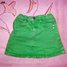Fusta de blugi verde, marca EXIT, fetite 5-6 ani