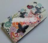 Toc Sligo Design Colour Butterfly Samsung S5610, Piele, Husa