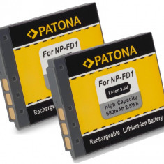 PATONA | 2 Acumulatori compatibili SONY NP-BD1 NPBD1 NP-FD1 NPFD1 - Baterie Aparat foto