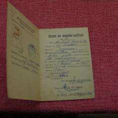 Carnet de muncitor calificat - Ministerul industriei usoare RPR - anul 1965 !!! - Pasaport/Document